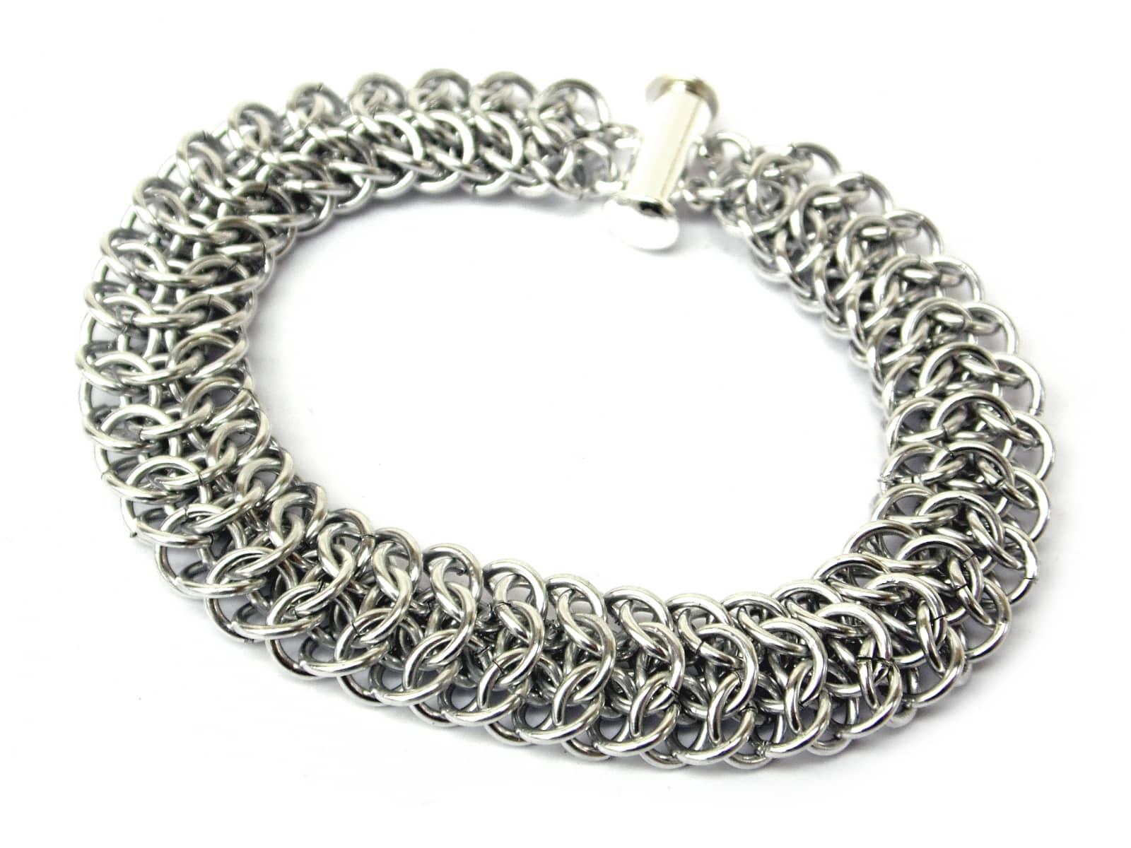 Bransoletka chainmaille z aluminium
