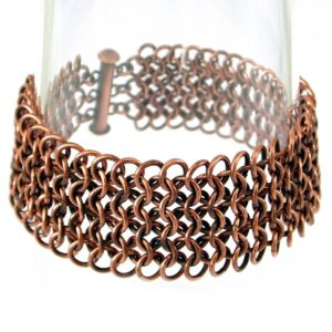 Metalowe szerokie bransoletki