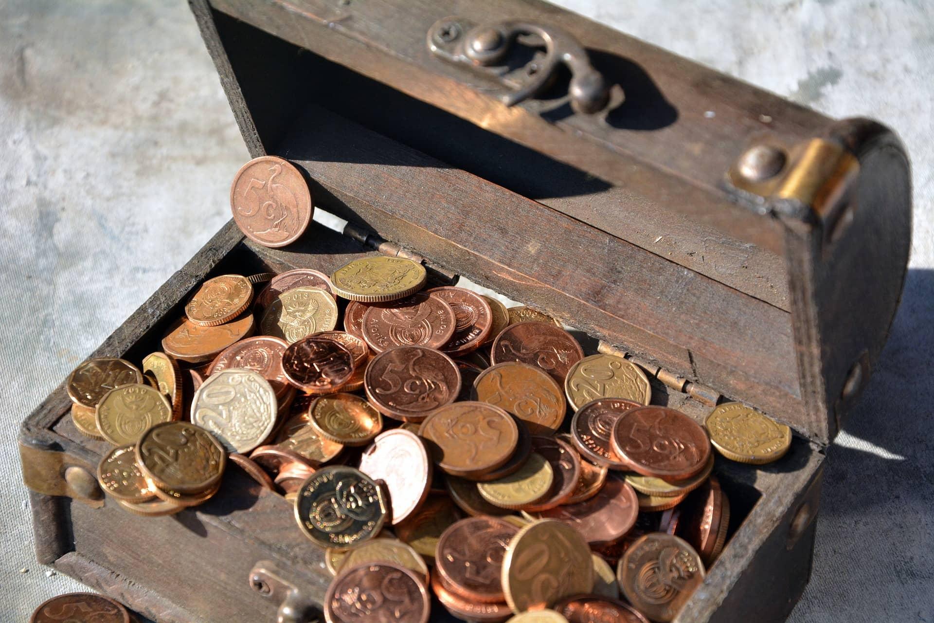 Miedziane monety (pixabay)