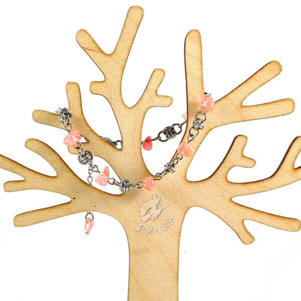 bransoletka chainmaille z kolekcji Sauvage z kwarcem wiśniowym