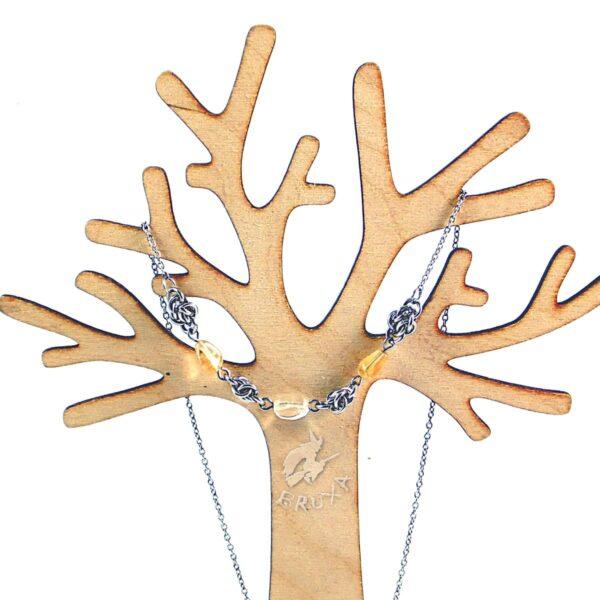 naszyjnik chainmaille z kolekcji Sauvage z cytrynem