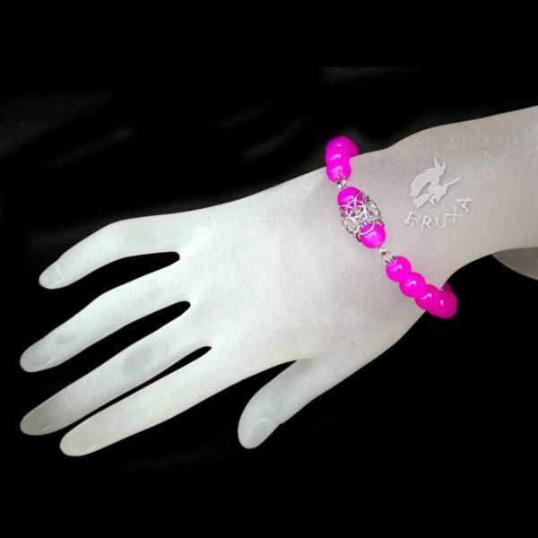 Bransoletka na gumce Lukrecja z różowych kwarców