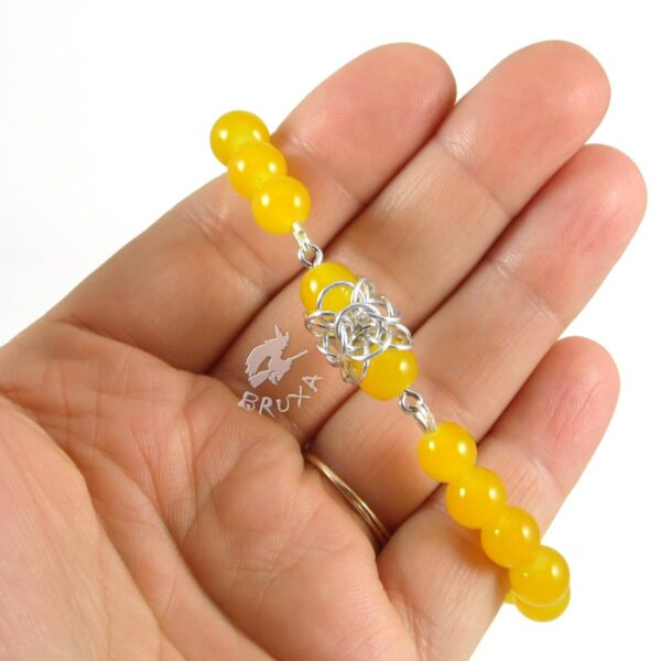 Bransoletka na gumce Lukrecja z żółtych kwarców