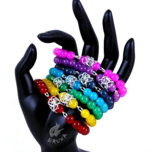 Bransoletki na gumce Lukrecja z kolorowych kwarców