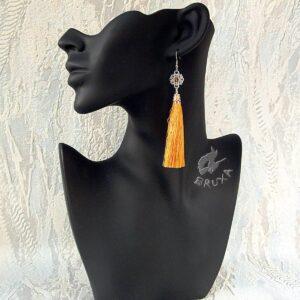 Kolczyki chainmaille z kolekcji Glamour, z żółtym chwostem