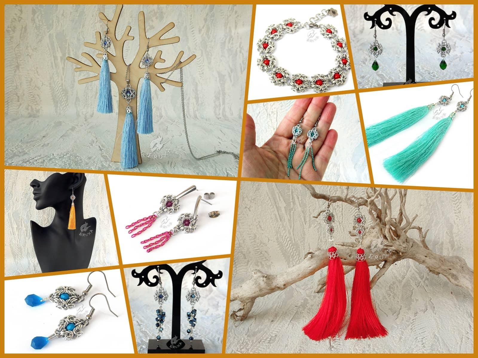 Kolaż biżuterii z kolekcji Glamour