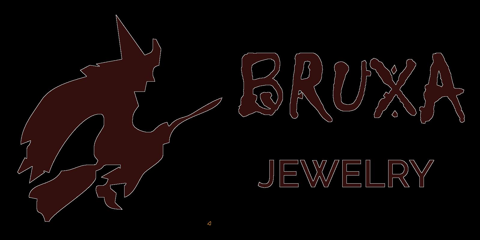 Logo Bruxa Jewelry w układzie prostokątnym