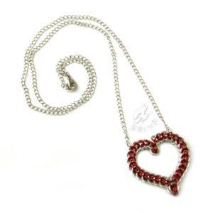 Naszyjnik chainmaille w kształcie serca