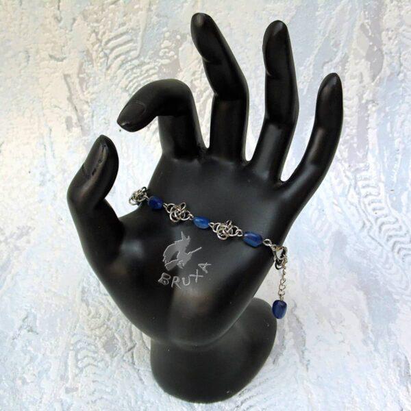 bransoletka chainmaille z kolekcji Sauvage z kianitem